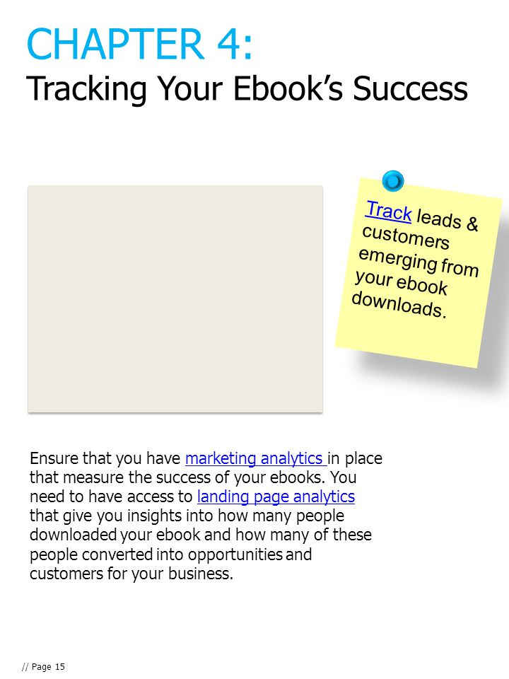 TrackTrack leads & customers emerging from your ebook downloads.