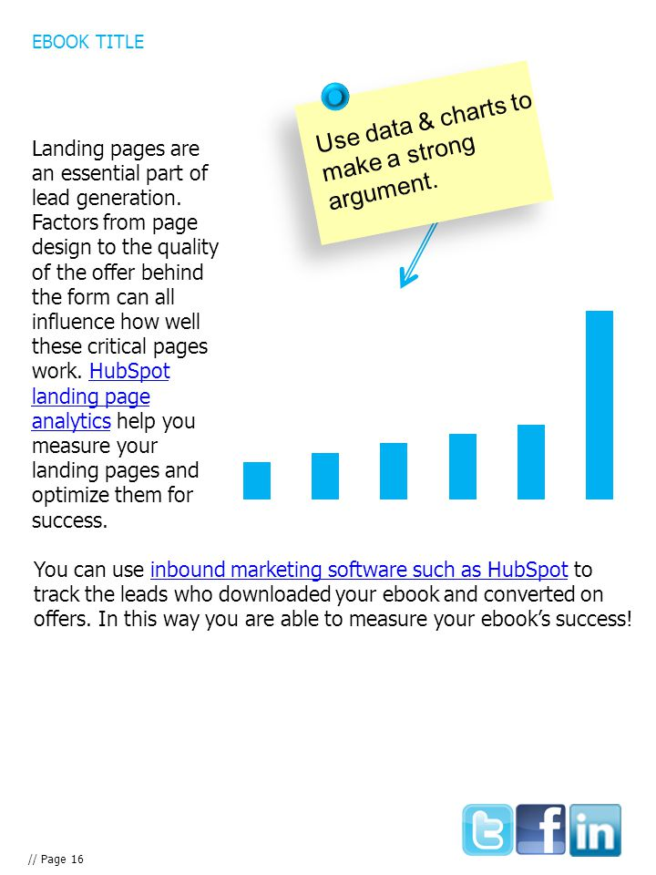 You can use inbound marketing software such as HubSpot to track the leads who downloaded your ebook and converted on offers.