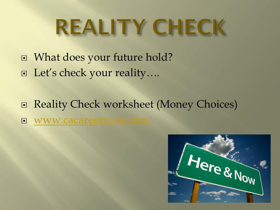 What does your future hold. Lets check your reality….