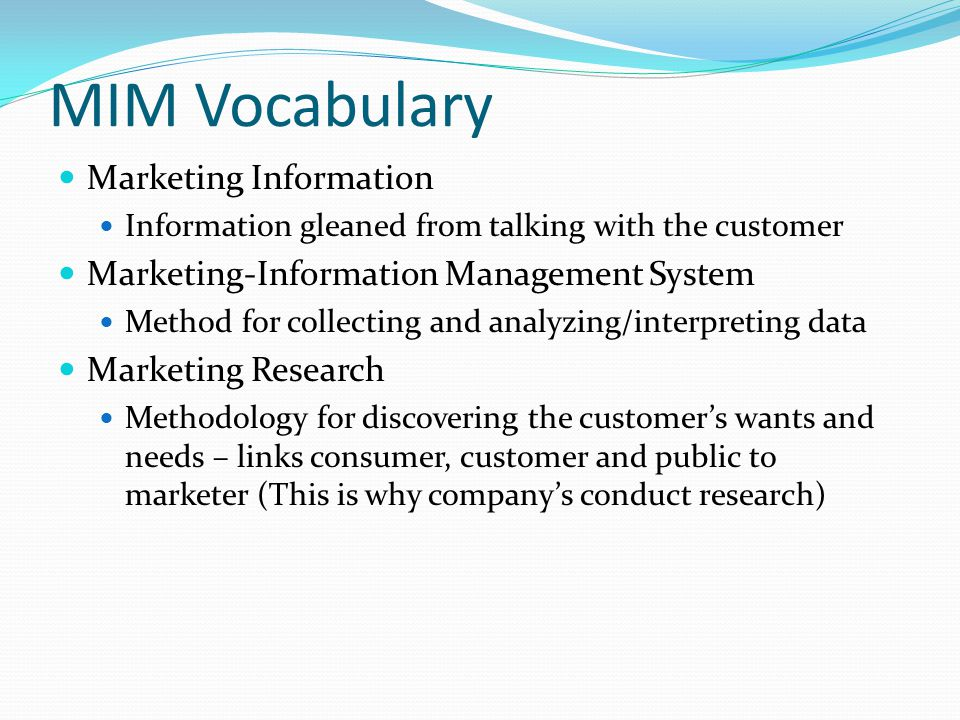 Who uses marketing research.