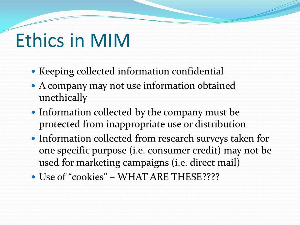 Technology Marketing-information management (MIM) tracks and monitors customer website activities.