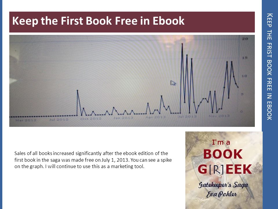 K EEP THE FRIST BOOK FREE IN EBOOK Keep the First Book Free in Ebook Sales of all books increased significantly after the ebook edition of the first b