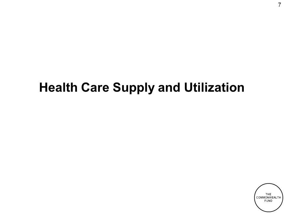 7 Health Care Supply and Utilization THE COMMONWEALTH FUND
