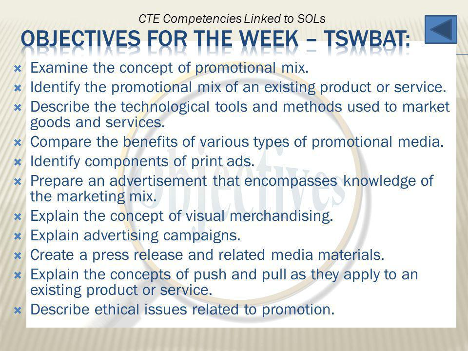 Examine the concept of promotional mix. Identify the promotional mix of an existing product or service. Describe the technological tools and methods u