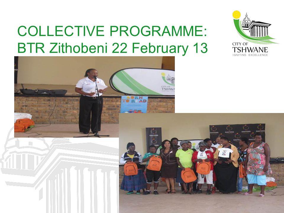 COLLECTIVE PROGRAMME: BTR Zithobeni 22 February 13