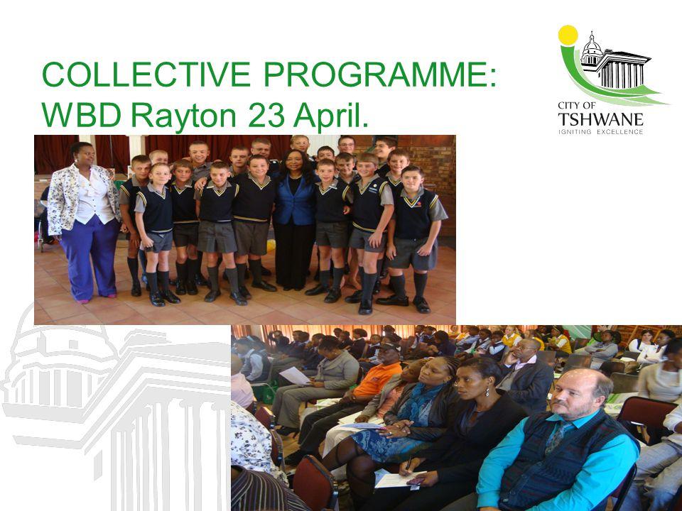COLLECTIVE PROGRAMME: WBD Rayton 23 April.