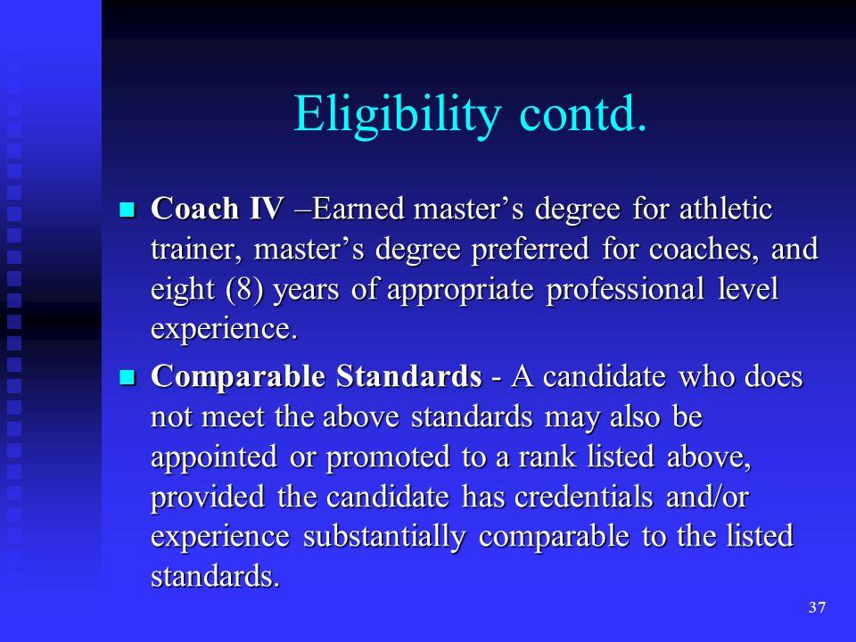 Eligibility contd.