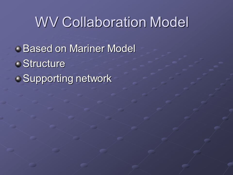 WV Collaboration Model Based on Mariner Model Structure Supporting network