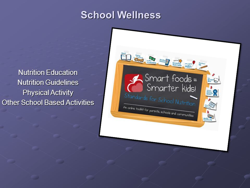 School Wellness Nutrition Education Nutrition Guidelines Physical Activity Other School Based Activities