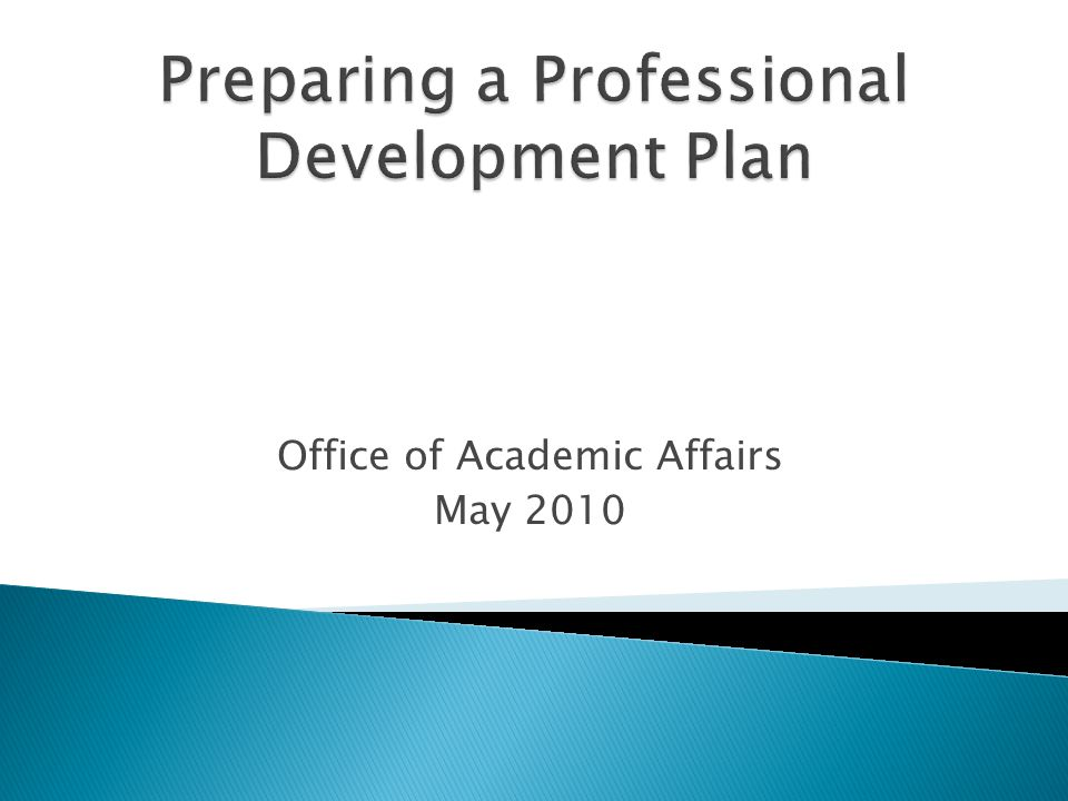 Office of Academic Affairs May 2010
