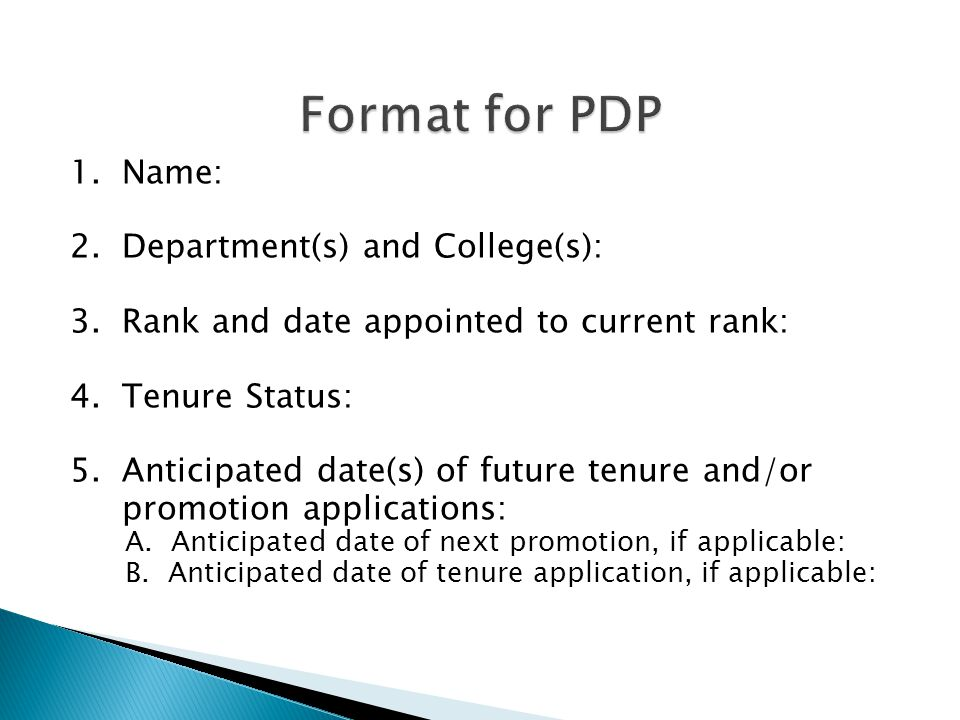 1. Name: 2. Department(s) and College(s): 3. Rank and date appointed to current rank: 4.