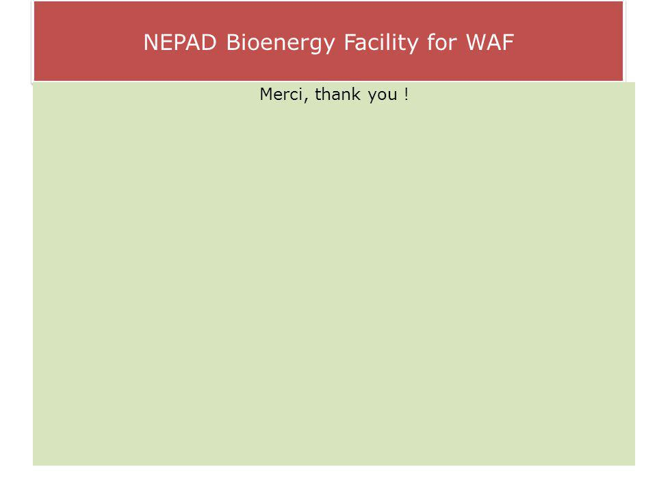 NEPAD Bioenergy Facility for WAF Merci, thank you !