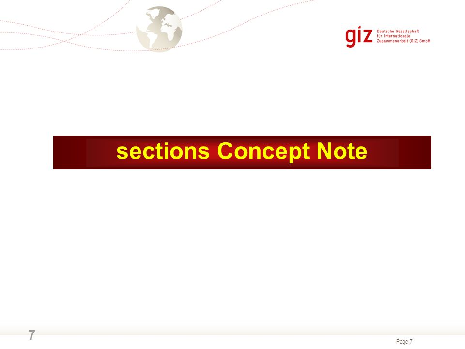 Page 7 7 sections Concept Note