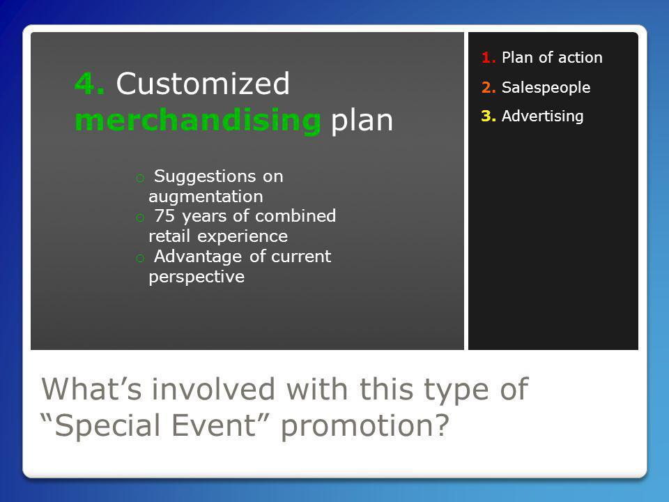 Whats involved with this type of Special Event promotion.