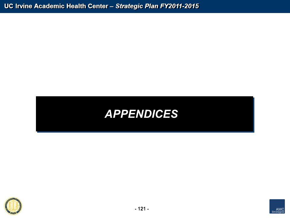 UC Irvine Academic Health Center – Strategic Plan FY2011-2015 - 121 - APPENDICES