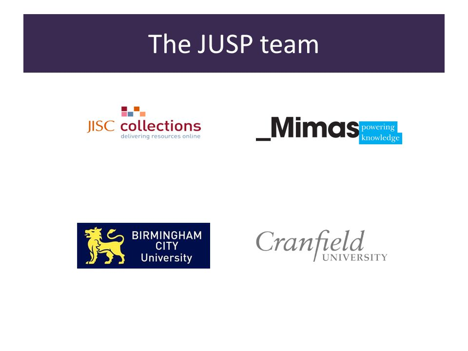 The JUSP team