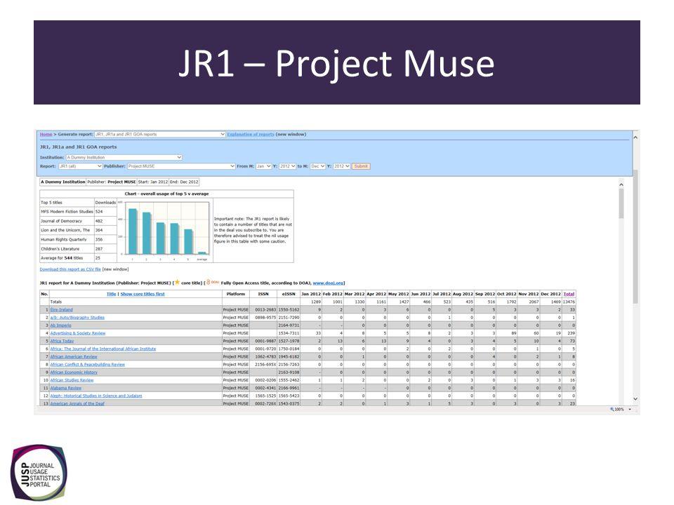JR1 GOA report