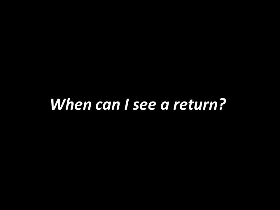 When can I see a return?