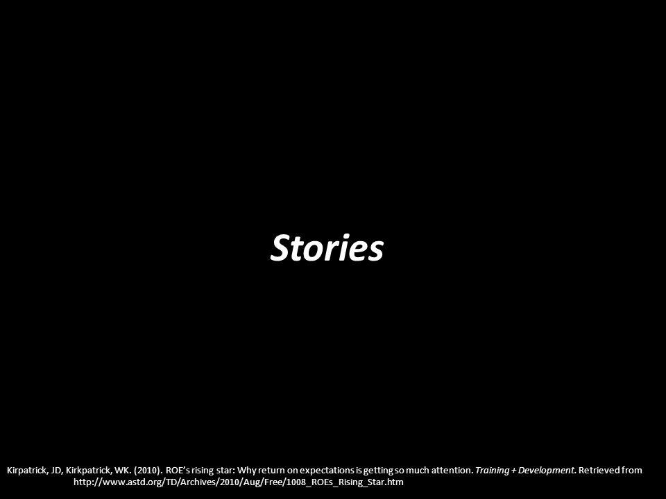 Stories Kirpatrick, JD, Kirkpatrick, WK. (2010).