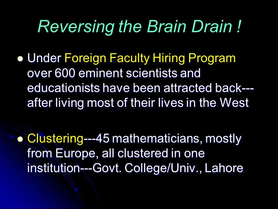 Reversing the Brain Drain .