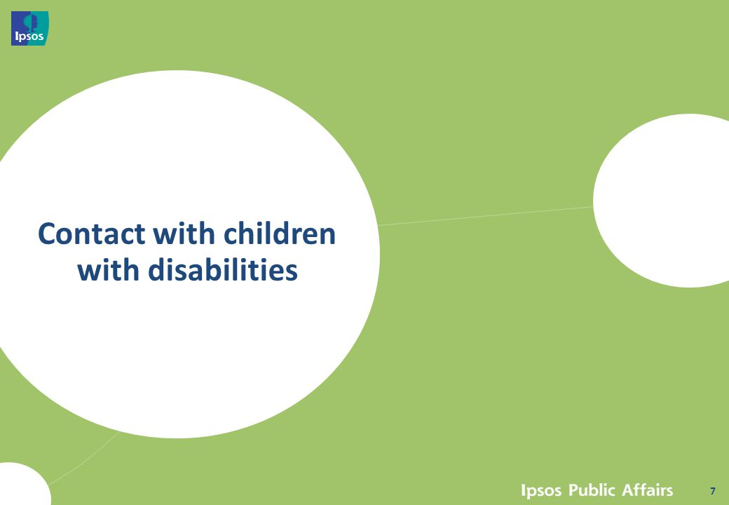 Contact with children with disabilities 7