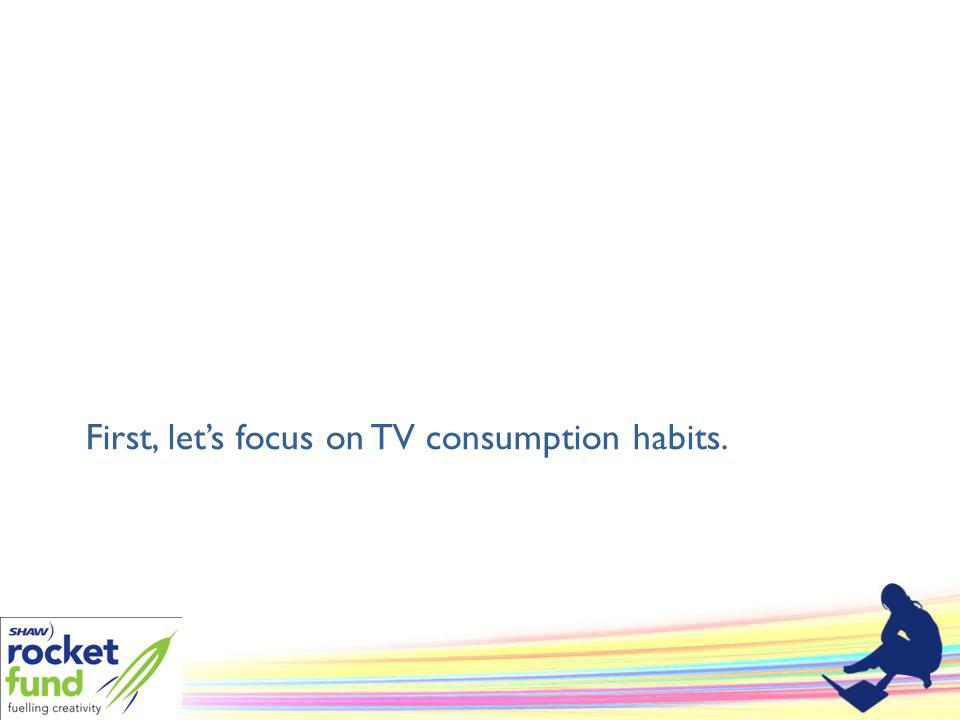 First, lets focus on TV consumption habits.