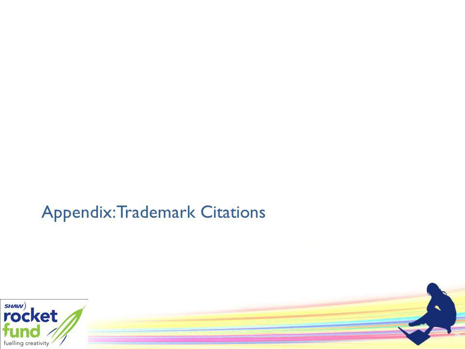 Appendix: Trademark Citations 78