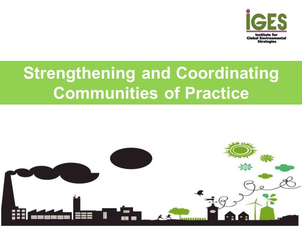 Strengthening and Coordinating Communities of Practice
