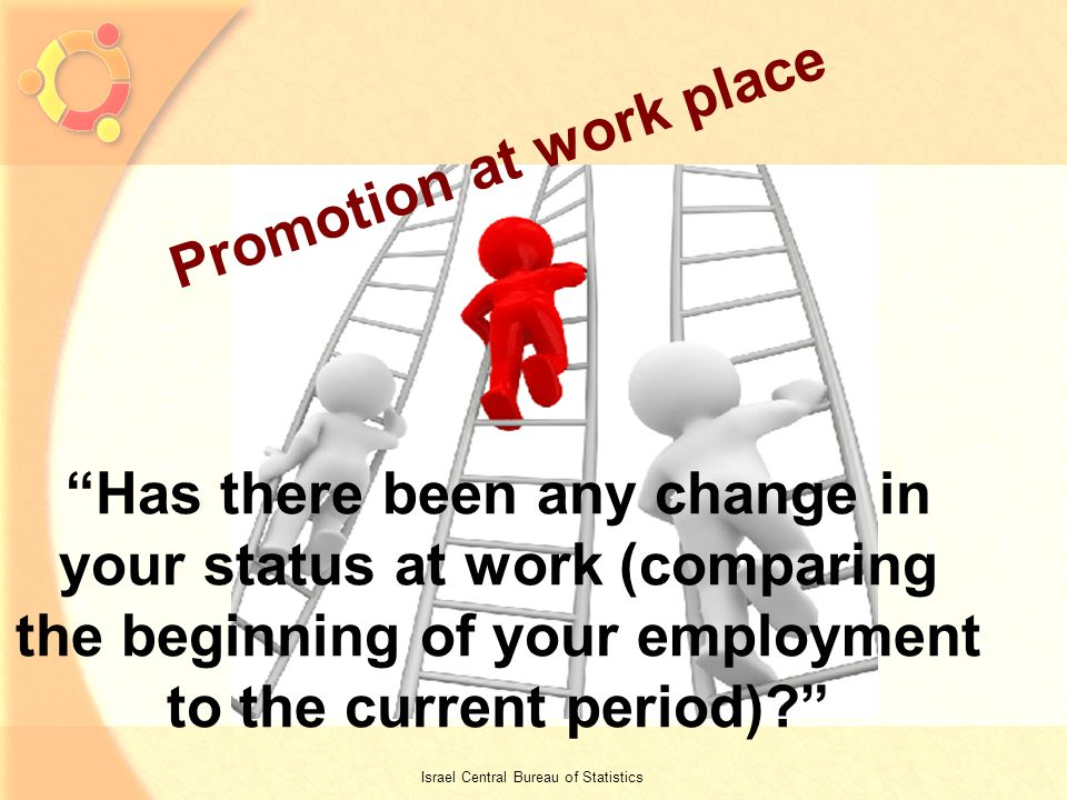 7 Promotion at work place Has there been any change in your status at work (comparing the beginning of your employment to the current period).
