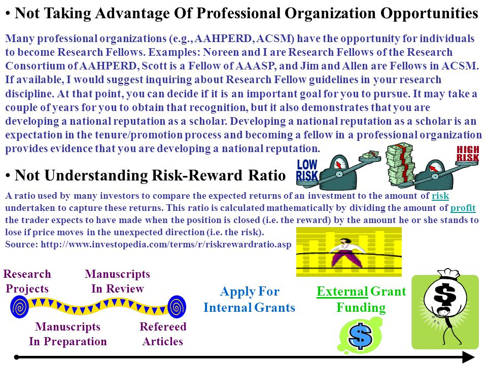 Many professional organizations (e.g., AAHPERD, ACSM) have the opportunity for individuals to become Research Fellows. Examples: Noreen and I are Rese