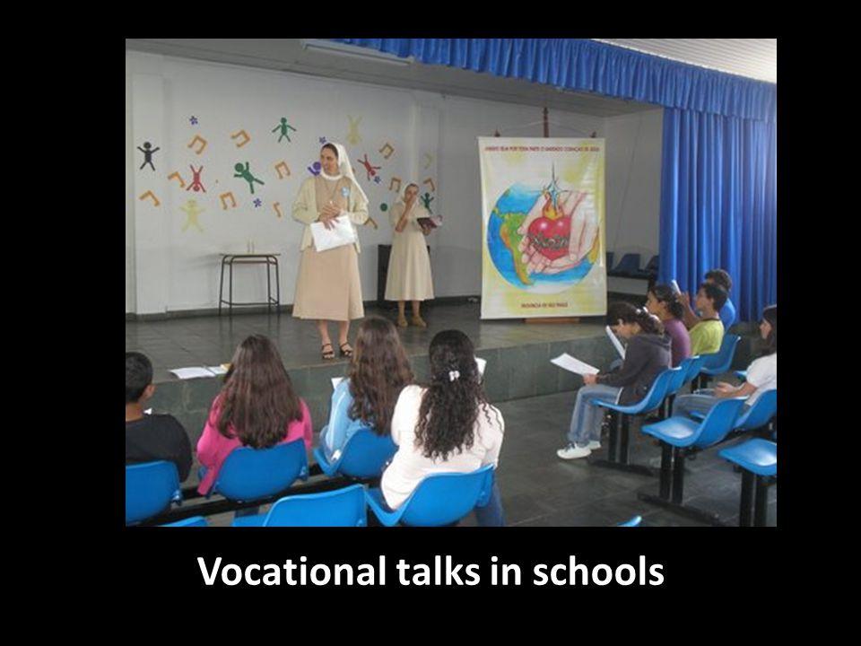 Vocational talks in schools