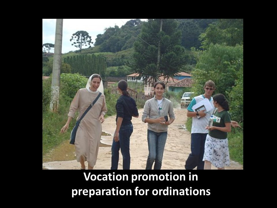 Vocation promotion in preparation for ordinations