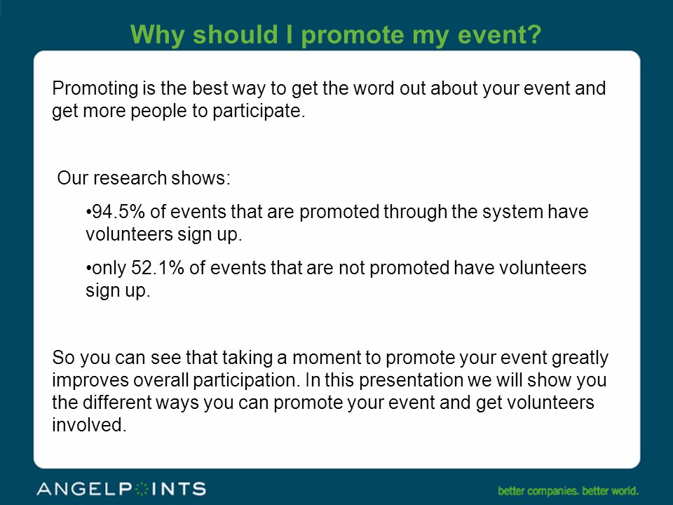 Links to promote your event There are two different ways to access the Promote feature.