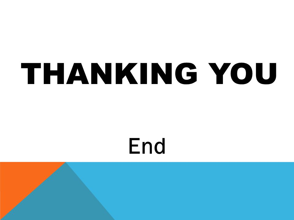 THANKING YOU End