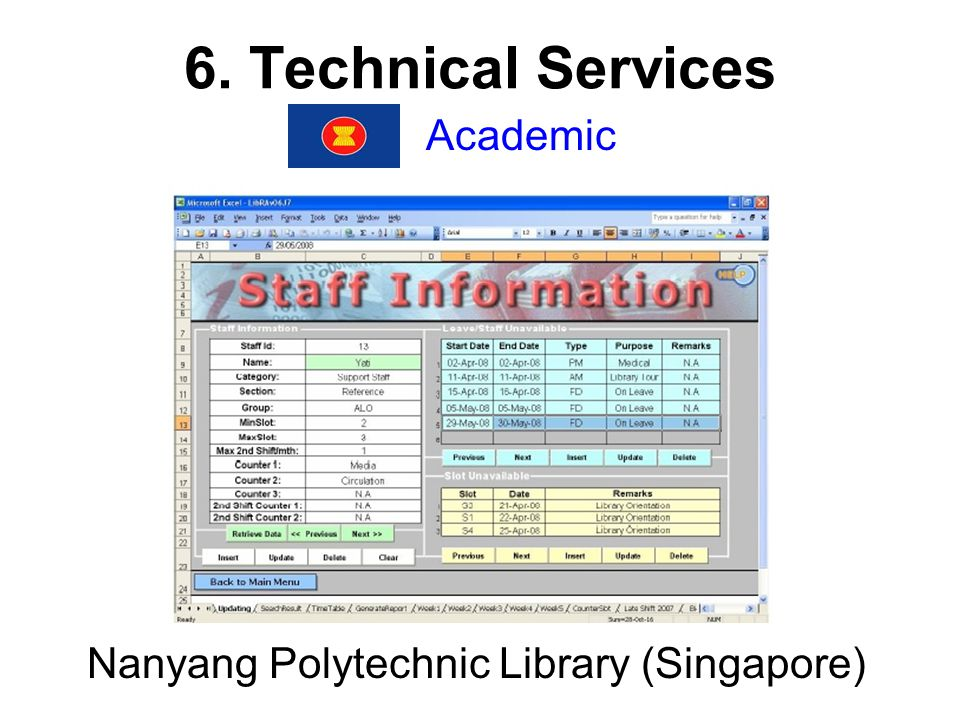 6. Technical Services Academic Nanyang Polytechnic Library (Singapore)