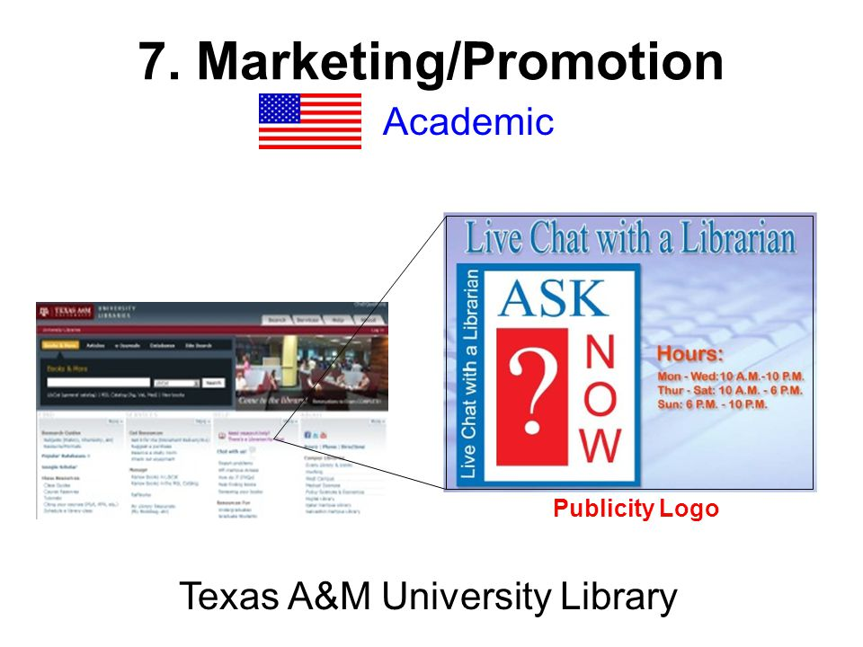 Academic Texas A&M University Library Publicity Logo
