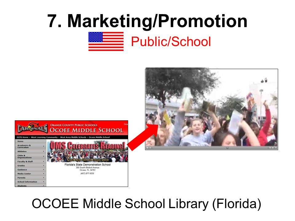 7. Marketing/Promotion Public/School OCOEE Middle School Library (Florida)