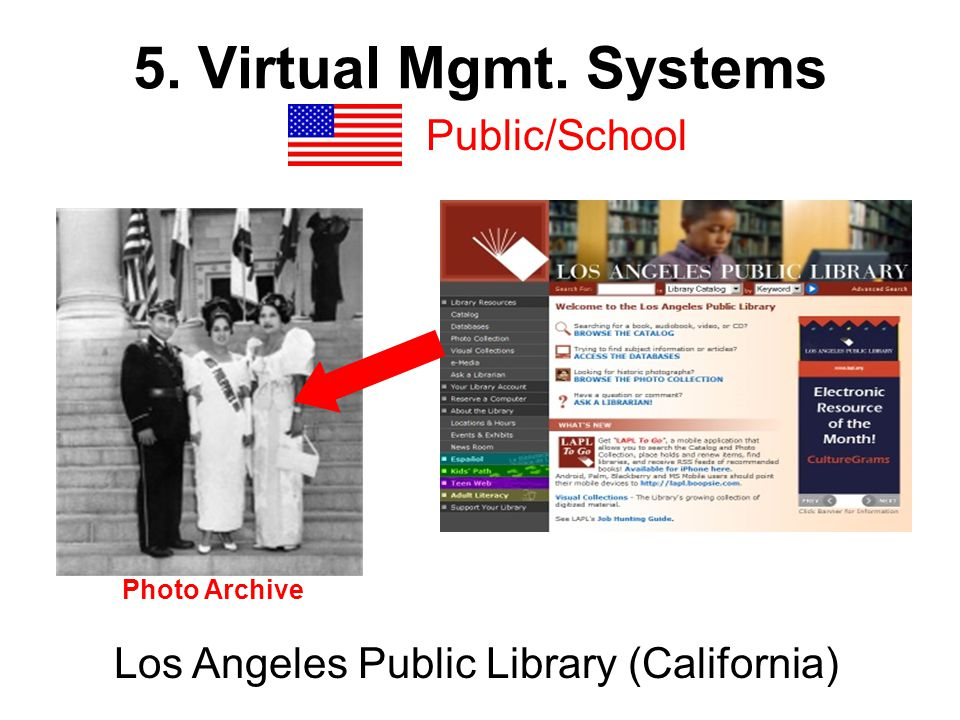 5. Virtual Mgmt. Systems Public/School Los Angeles Public Library (California) Photo Archive