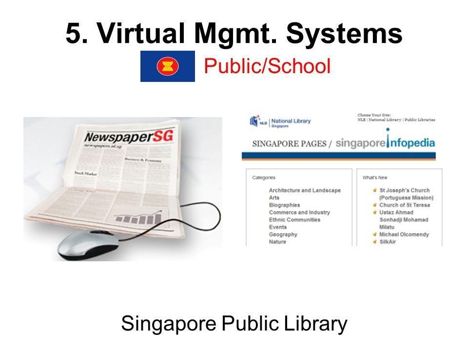 5. Virtual Mgmt. Systems TK Park (Online Public Library), Bangkok,Thailand Public/School