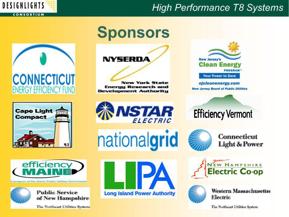 High Performance T8 Systems Sponsors