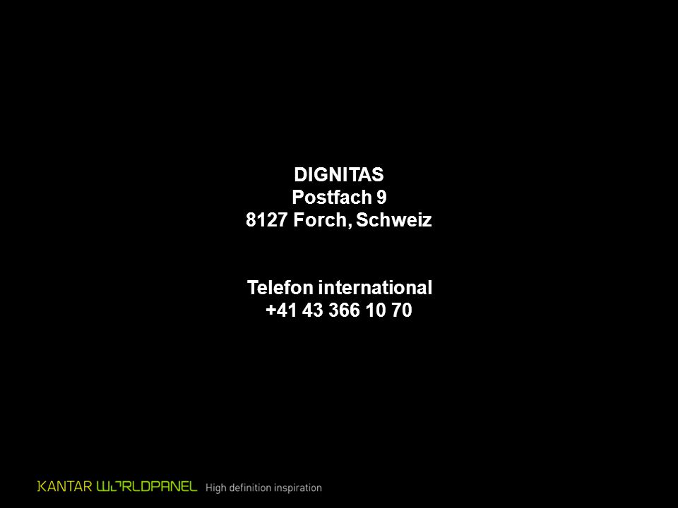 DIGNITAS Postfach 9 8127 Forch, Schweiz Telefon international +41 43 366 10 70