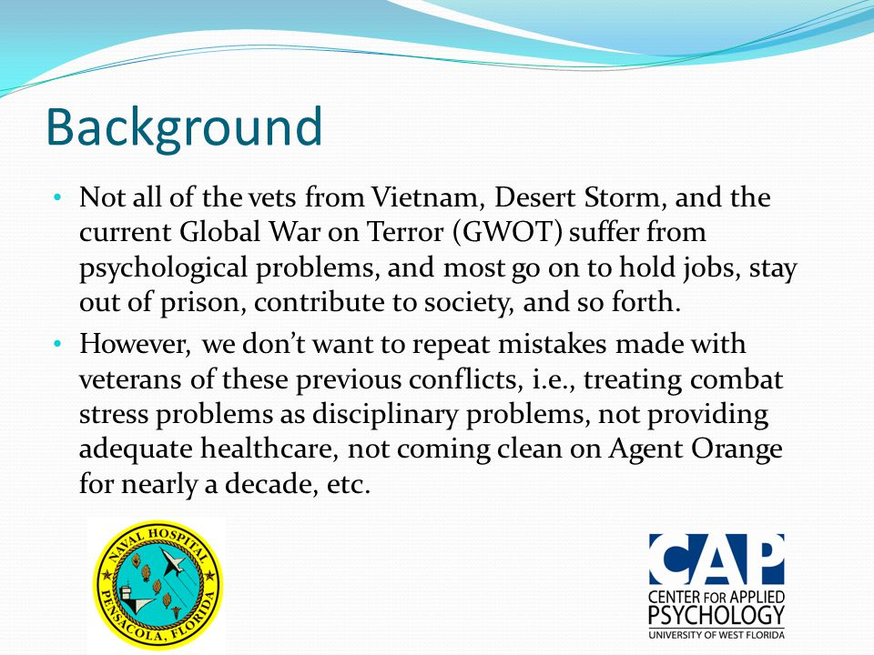 Background What is different about the GWOT compared to previous conflicts.
