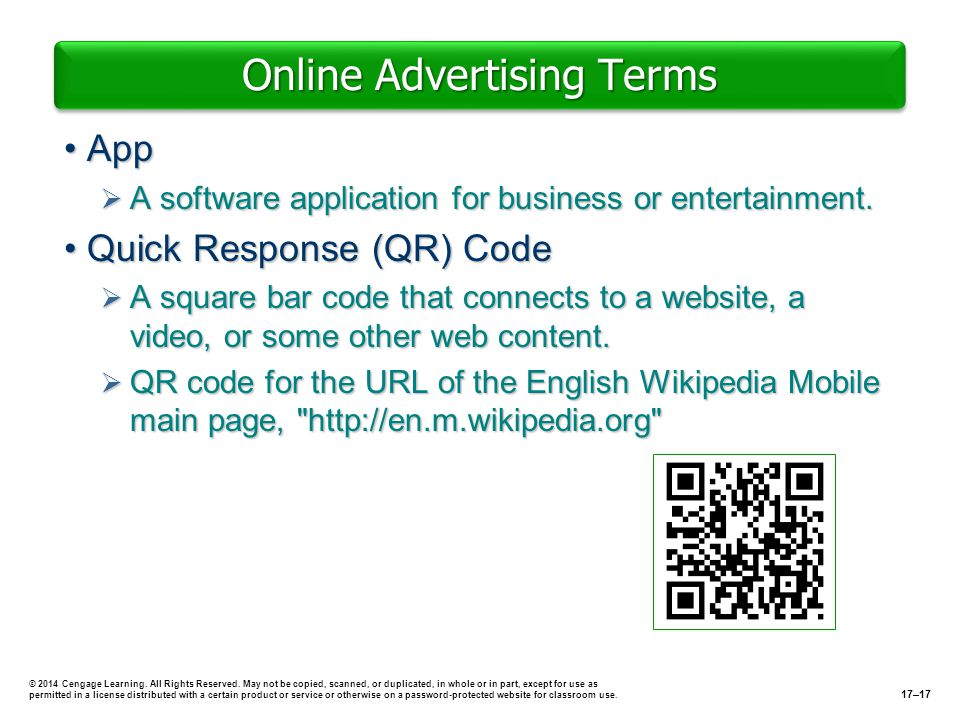 Online Advertising Terms AppApp A software application for business or entertainment. A software application for business or entertainment. Quick Resp