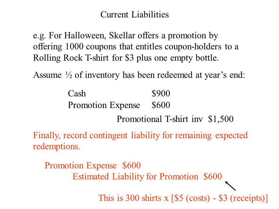 Current Liabilities e.g.