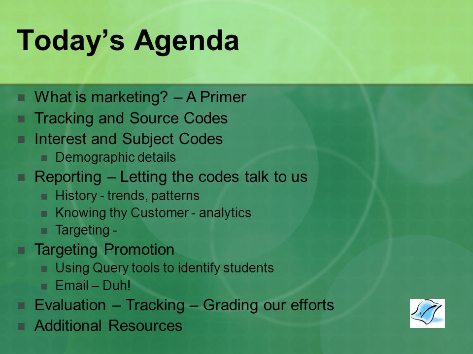 Todays Agenda What is marketing.