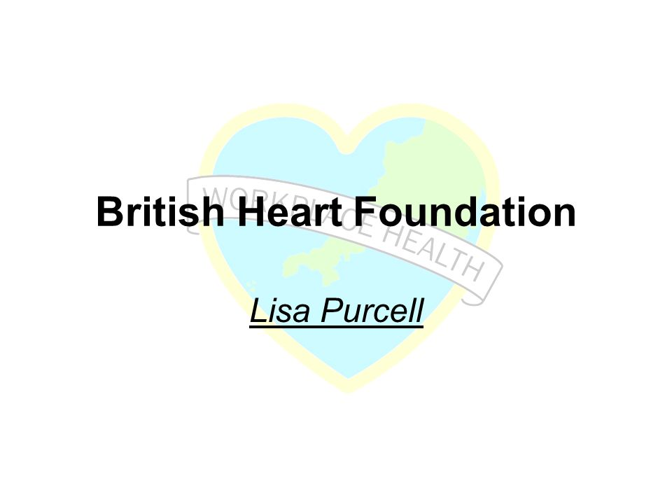 British Heart Foundation Lisa Purcell