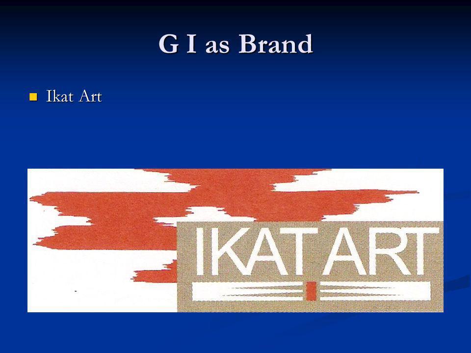 G I as Brand Ikat Art Ikat Art