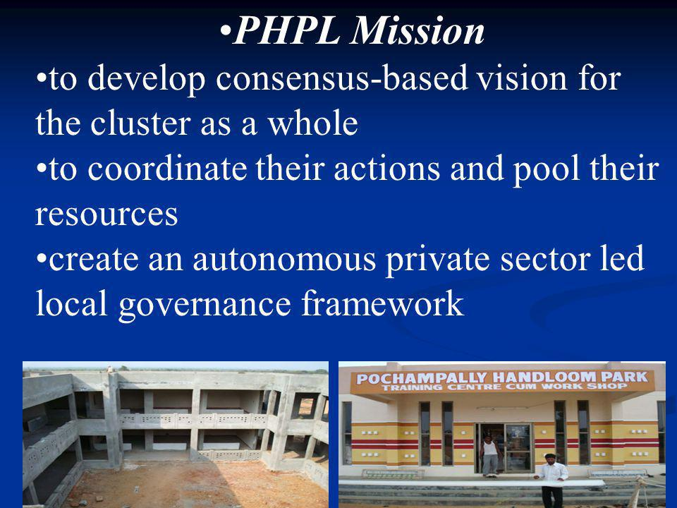 PHPL Mission to develop consensus-based vision for the cluster as a whole to coordinate their actions and pool their resources create an autonomous pr