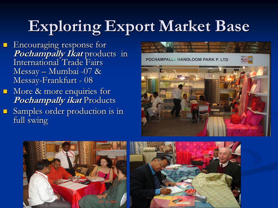 Exploring Export Market Base Encouraging response for Pochampally Ikat products in International Trade Fairs Messay – Mumbai -07 & Messay-Frankfurt -