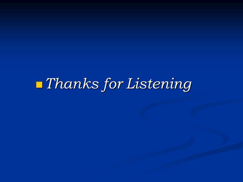 Thanks for Listening Thanks for Listening